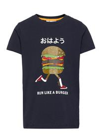 The New Urger S_s Tee T-shirts Short-sleeved Sininen The New NAVY BLAZER