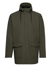 Weather Report Erik M Dull Pu Jacket W-Pro 5000 Outerwear Rainwear Rain Coats Vihreä Weather Report FOREST NIGHT
