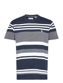 Original Penguin Engineered Stripe T-Shirt T-shirts Short-sleeved Musta Original Penguin DARK SAPPHIRE