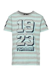 Hummel Hmlmack T-Shirt S/S T-shirts Short-sleeved Sininen Hummel BLUE TINT