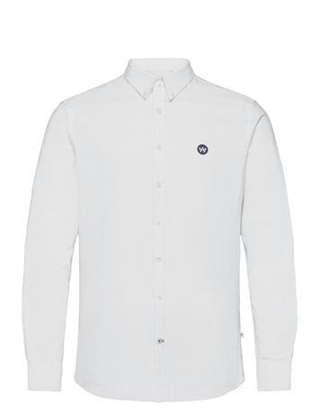Kronstadt Johan Oxford Shirt Paita Rento Casual Valkoinen Kronstadt WHITE