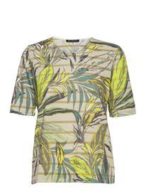 Betty Barclay Shirt Short 1/2 Sleeve T-shirts & Tops Short-sleeved Vihreä Betty Barclay CREAM/GREEN