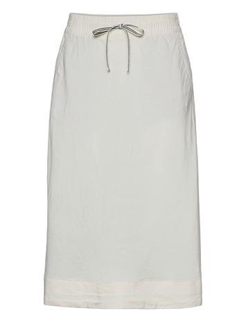 GANT D2. Summer Linen Skirt Polvipituinen Hame Valkoinen GANT EGGSHELL
