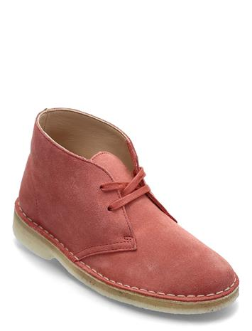 Clarks Originals Desert Boot. Shoes Boots Ankle Boots Ankle Boot - Flat Punainen Clarks Originals DARK BLUSH SDE