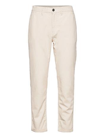 Selected Homme Slhslimcomfort-Barry Linen Ank Pants W Chinot Housut Kermanvärinen Selected Homme BONE WHITE