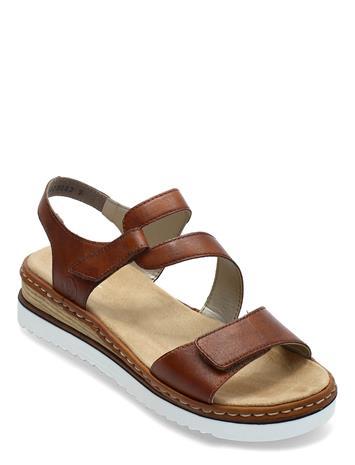 Rieker 679c7-24 Shoes Summer Shoes Flat Sandals Ruskea Rieker BROWN