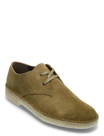 Clarks Originals Desert Khan Shoes Business Laced Shoes Vihreä Clarks Originals DARK OLIVE SDE