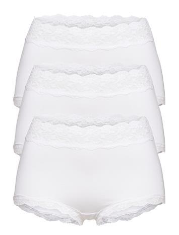 Lindex Brief 3 Pack Pure Lace Classic Alushousut Brief Tangat Valkoinen Lindex WHITE