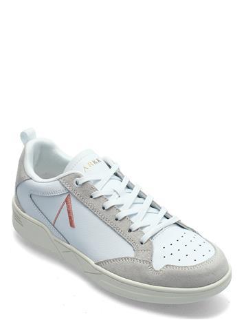 ARKK Copenhagen Visuklass Leather Suede S-C18 White Matalavartiset Sneakerit Tennarit Valkoinen ARKK Copenhagen WHITE PEACH