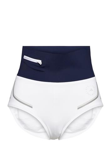 adidas by Stella McCartney Beachdefender Bikini Bottoms W Shorts Sport Shorts Valkoinen Adidas By Stella McCartney WHITE/CONAVY