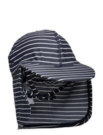 Melton Uv Swim Hat Stripe Accessories Headwear Caps Sininen Melton BLUE