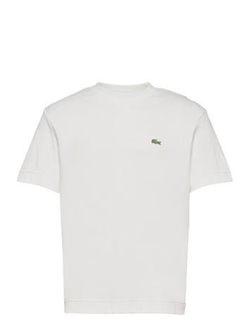 Lacoste Men S Tee-Shirt T-shirts Short-sleeved Valkoinen Lacoste FLOUR