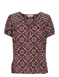 ODD MOLLY Myrtle Blouse Blouses Short-sleeved Vaaleanpunainen ODD MOLLY ASPHALT