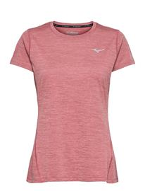 Mizuno Impulse Core Tee T-shirts & Tops Short-sleeved Vaaleanpunainen Mizuno RENAISSANCE ROSE