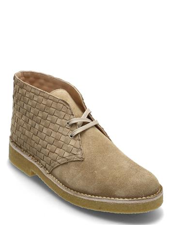 Clarks Originals Desert Boot221 Nyörisaappaat Beige Clarks Originals LIGHT TAN WOVEN