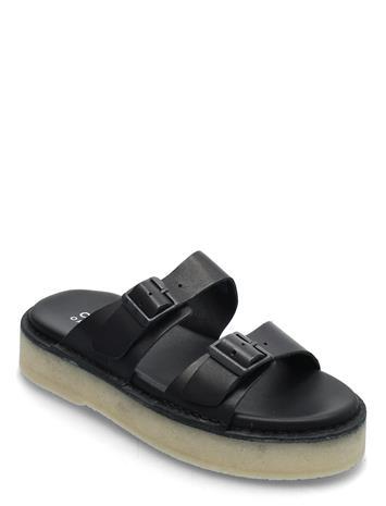 Clarks Originals Desert Sndl Shoes Summer Shoes Flat Sandals Musta Clarks Originals BLACK LEATHER
