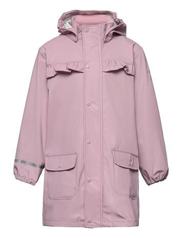 CeLaVi Raincoat - Solid Outerwear Rainwear Jackets Vaaleanpunainen CeLaVi MAUVE SHADOW