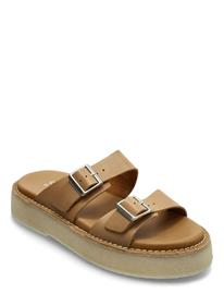 Clarks Originals Desert Sndl Shoes Summer Shoes Flat Sandals Ruskea Clarks Originals TAN LEATHER