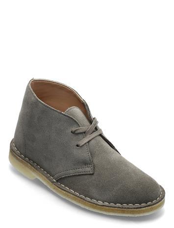 Clarks Originals Desert Boot. Nauhakengät Matalapohjaiset Kengät Harmaa Clarks Originals SAGE SUEDE