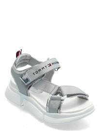 Tommy Hilfiger Velcro Sandal Shoes Summer Shoes Sandals Hopea Tommy Hilfiger GREY/SILVER