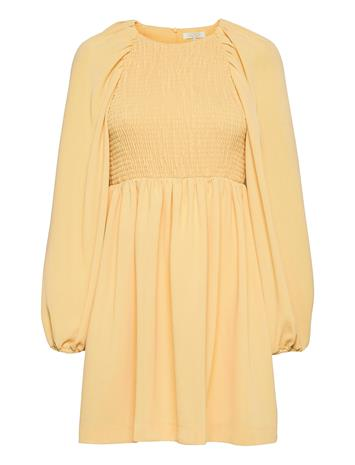 Notes du Nord Oliana Smock Dress Dresses Everyday Dresses Oranssi Notes Du Nord SOFT LEMON