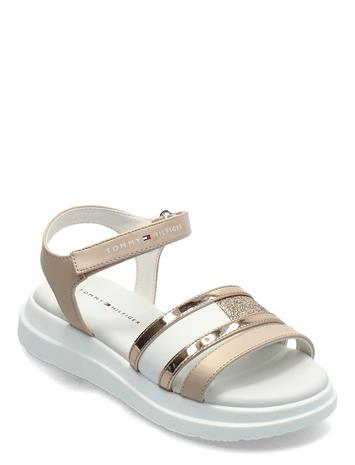 Tommy Hilfiger Velcro Sandal Shoes Summer Shoes Sandals Kulta Tommy Hilfiger ROSE GOLD