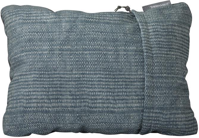 Therm-a-Rest Compressible Pillow XL, blue woven dot