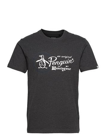 Original Penguin Combo Logo T-Shirt T-shirts Short-sleeved Harmaa Original Penguin DARK CHARCOAL HEATHER