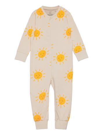 Lindex Pyjamas Sun Pyjama Sie Jumpsuit Haalari Beige Lindex BEIGE