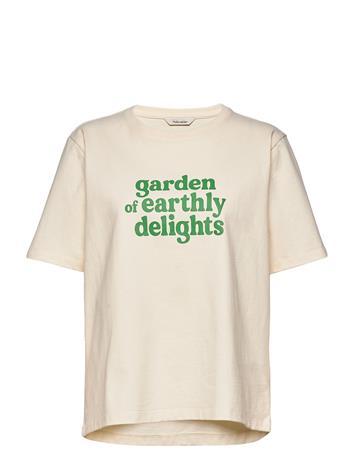 HOLZWEILER Kjerag Print Tee T-shirts & Tops Short-sleeved Kermanvärinen HOLZWEILER ECRU