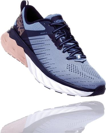 Hoka One One Arahi 3 Wide Running Shoes Women, allure/mood indigo