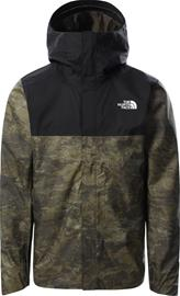 The North Face Quest Zip-In Jacket Men, military olive cloud camo wash print