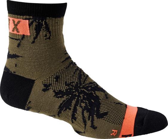 "Fox 4"""" Flexair Merino Socks Men, olive green"