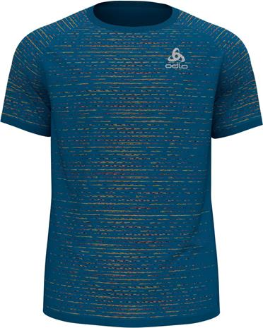 Odlo Blackcomb Ceramicool T-Shirt S/S Crew Neck Men, mykonos blue space dye