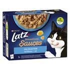 Latz Sensations Sauces 12 x 85 g kala lajitelma kastikkeessa kissan märkäruoka