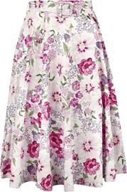 H&R London - Katalina Swing Skirt - Pitkä hame - Naiset - Monivärinen