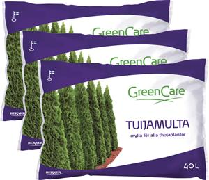 Setti 3 kpl Tuijamulta Greencare 40 l