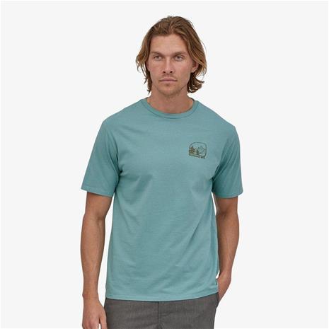 Patagonia M's Roam the Dirt T-Shirt - Organic Cotton, Upwell Blue / L