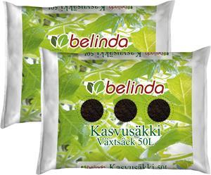 Setti 2 kpl kasvusäkki Belinda 50 l