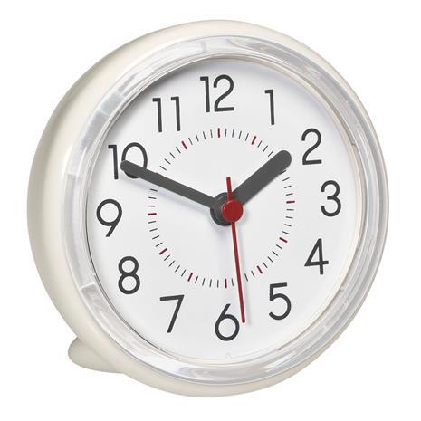 TFA Bathroom 60.3055.02, imukupilla kiinnitettävä roiskevesitiivis kello