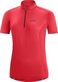 GORE WEAR C3 Zip Jersey Women, vaaleanpunainen/punainen
