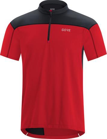 GORE WEAR C3 Zip Jersey Men, punainen/musta