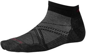 Smartwool PhD Run Light Elite Low-Cut Socks, harmaa/musta, Miesten housut ja muut alaosat