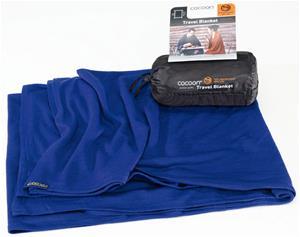 Cocoon Travel Blanket Merinovilla/silkki, sininen