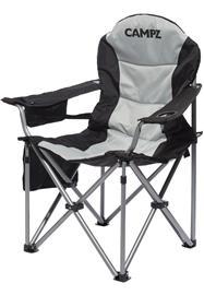 CAMPZ Deluxe Nojatuoli, harmaa/musta