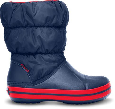 Crocs Winter Puff Saappaat Lapset, punainen/sininen