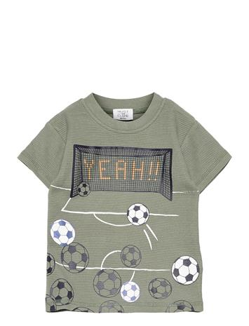 Hust & Claire Arthur - T-Shirt S/S T-shirts Short-sleeved Vihreä Hust & Claire SEA SPRAY
