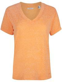 O'Neill Essentials V-Neck T-Shirt blazing orange Naiset
