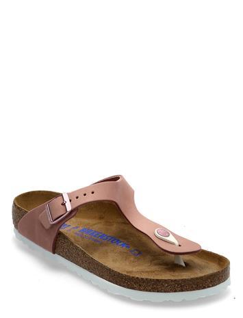 Birkenstock Gizeh Soft Footbed Shoes Summer Shoes Flat Sandals Vaaleanpunainen Birkenstock OLD ROSE
