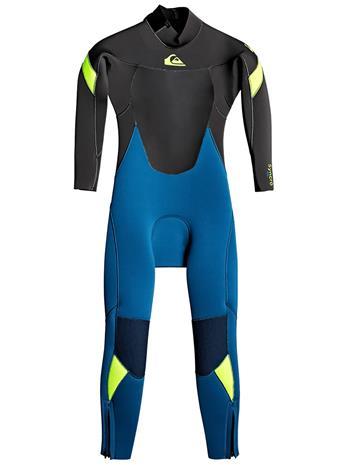 Quiksilver Syncro 3/2 Back Zip GBS Wetsuit marina / jet black